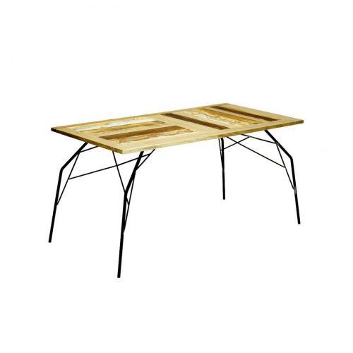 tavolo in legno e ferro legno di recupero vintage laquercia21