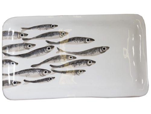 Vassoio rettangolare linea marina virginia casa sardine