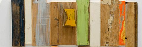 materiale legno vintage antico di recupero verde
