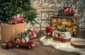 Decorazioni natalizie Babbo Natale di ceramica