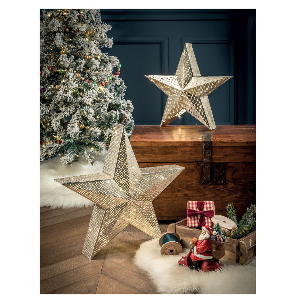 decorazioni luminose natalizie stella led