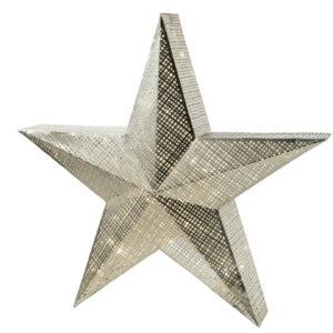 decorazioni natalizie luminose a forma di stella