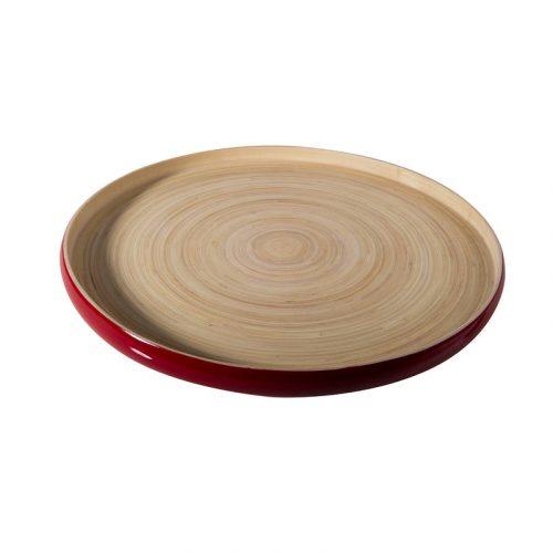 Vassoi in bambù khay bibol rosso lucido