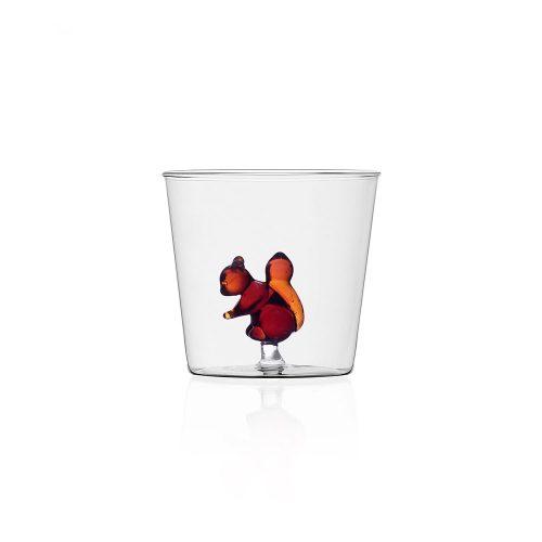 Bicchiere con scoiattolo vetro Collezione Animal Farm Ichendorf Roma