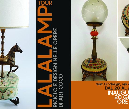 locandina presentazione lampade Artcocò oggetti vintage e riuso dei materiali