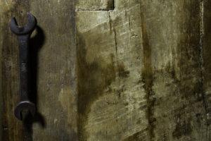 anta per cucina in muratura in legno vintage recuperato