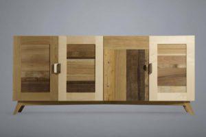 credenza in legno massello con ante legno recupero laquercia21 roma
