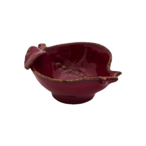 coppetta forma melograno ceramica rossa virgina casa
