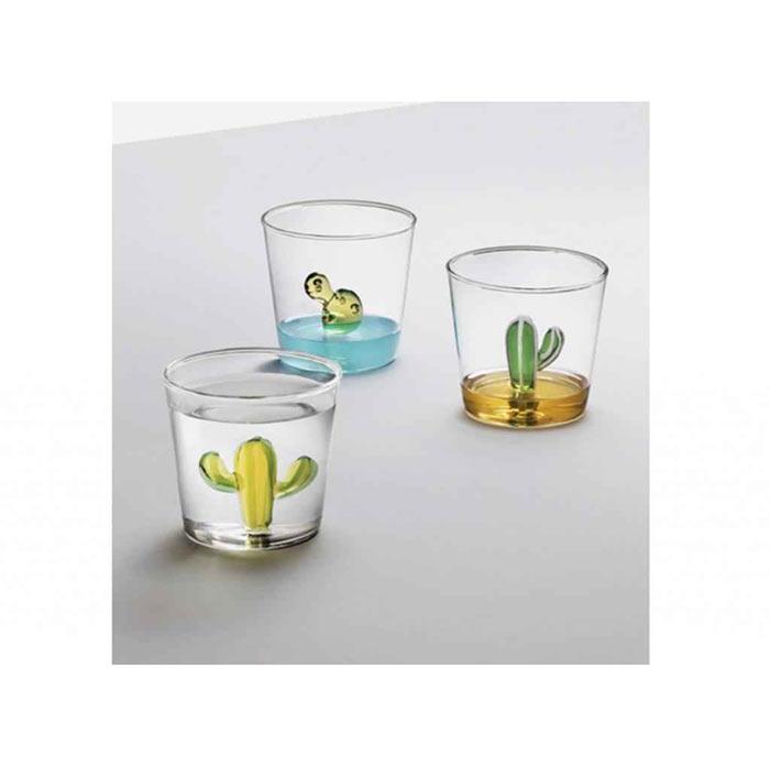 linea cactus ichendorf bicchieri vetro con decori in 3D interni