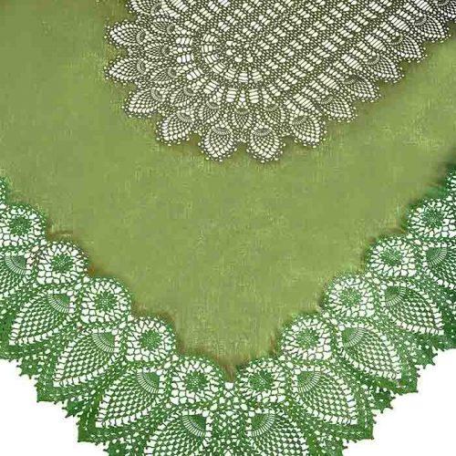 tovaglia impermeabile vinile color verde di Fiorirà un giardino