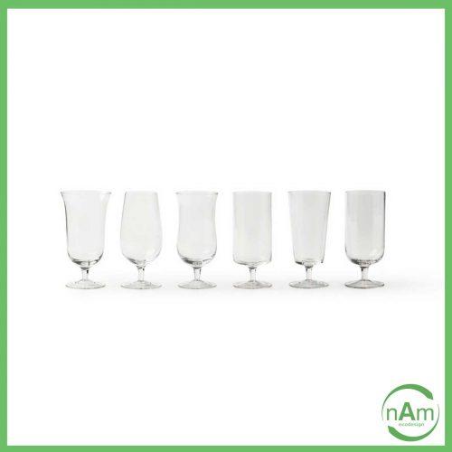 bicchieri da virra tipo calice in vetro trasparente bitossi home
