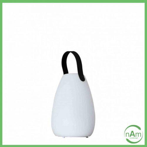 lampada a led per esterno bianca con manico ricaricabile USB