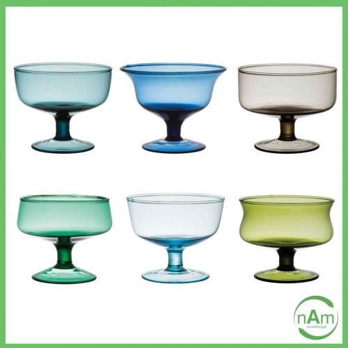bitossi home set coppettte vetro colorato multicolore