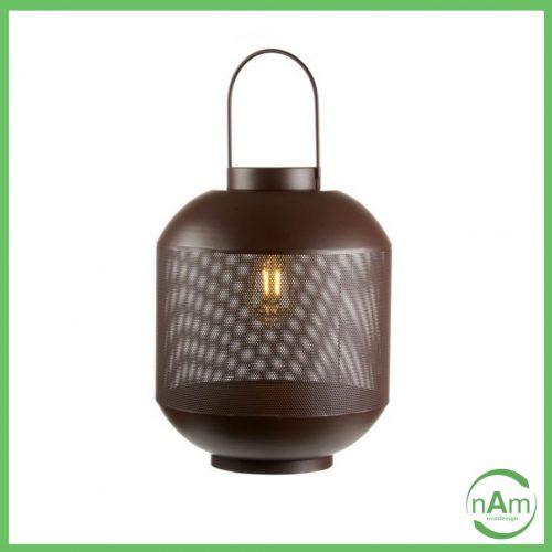 lanterna con luce a led metallo marrone per esterno o interno l'oca nera