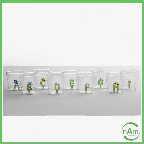 Bicchiere GREENWOOD Alfabeto Fiorito - Ichendorf