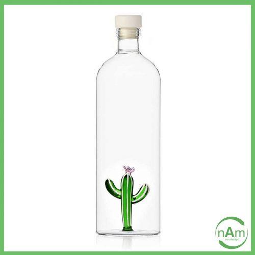 bottiglia in vetro trasparente con cactus verde in vetro Ichendorf desert plant