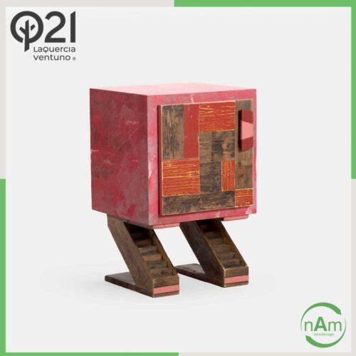 Mobile tipo comodino rosso Laquercia21