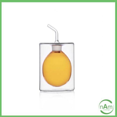 oliera a 2 pareti CILINDRO 150ml colore ambra Ichendorf