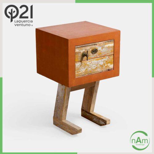 mobiletto di design laquercia21 arancio