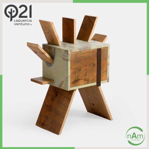 mobiletto in legno di design Laquercia21